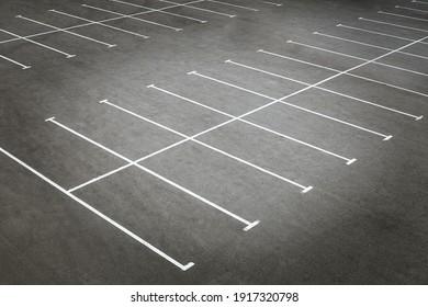 Empty parking lots near trade center