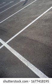 Empty parking with white marking line