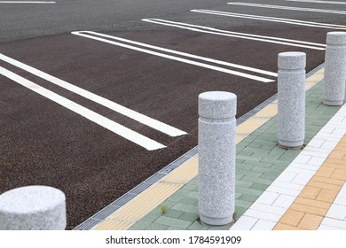 Empty parking lot without cars