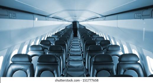 an empty passenger airliner