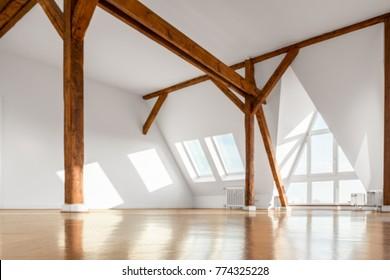 empty penthouse apartment room interior