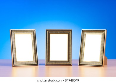 Empty photo frame with space for your text