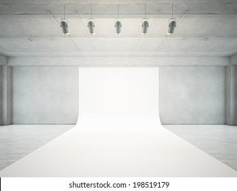 Empty photo studio interior