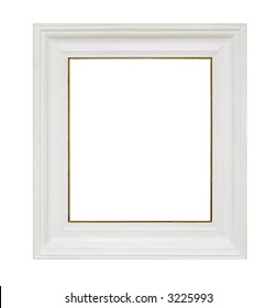 An empty picture frame isolated on white