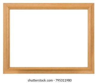 Empty picture frame, wood finish