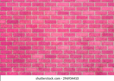 Empty pink brick wall textured background.