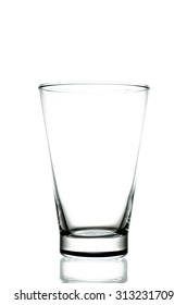 Empty pint glass isolated on white background. (Clipping path included)