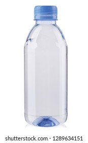 empty plastic bottle isolated on white background. without labels