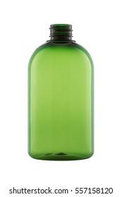 empty plastic bottle isolated on the white background