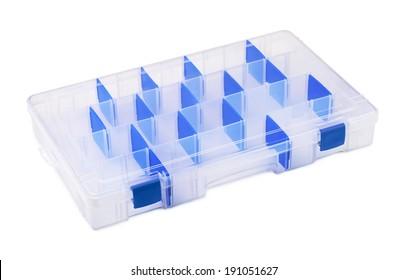 Empty plastic tool organiser isolated on white