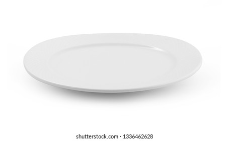 empty plate isolate on white background