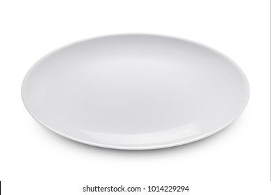 Empty plate. Isolated on white background with clipping path