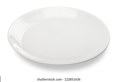 empty plate isolated on white