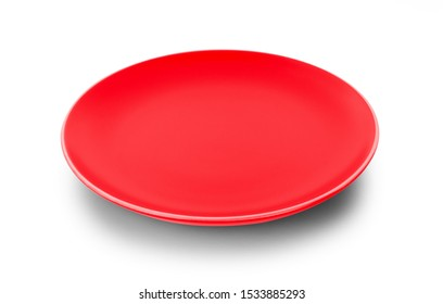 empty plate isolated on white background