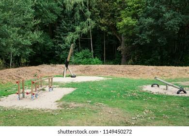 empty playground  in National Park Biesbosch, Merwelanden, Dordrecht, The Netherlands