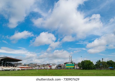 Empty Polo ground in Imphal, Manipur, India
