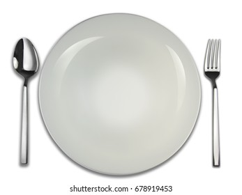 Empty porcelain plate for different uses