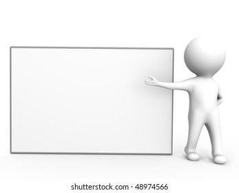An empty presentation board - a 3d image