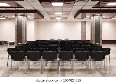 Empty presentation room ready for meeting