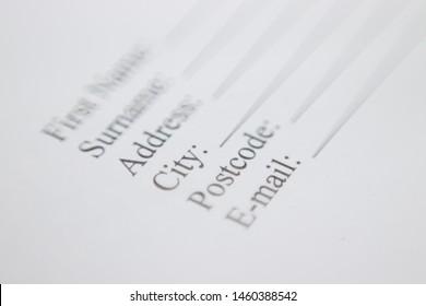 Surname Images, Stock Photos & Vectors | Shutterstock