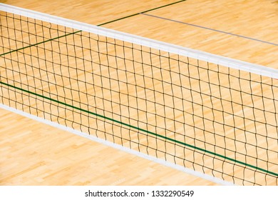 Empty professional volleyball court