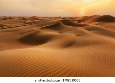 Empty Quarter Desert Dunes at Liwa, Abu Dhabi, United Arab Emirates