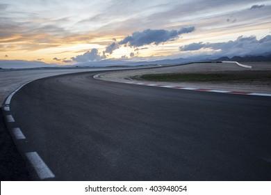 Empty racing truck