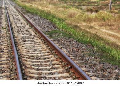 empty railway point to forward
