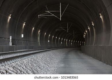 empty railway tunnel