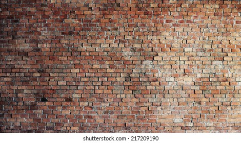 Empty Red Brick Wall