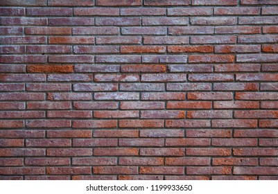 Empty red brick wall texture background