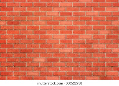 Empty red brick wall textured background.