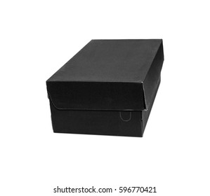 Empty Red Cardboard box with opened lid isolated on white background.