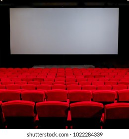 Empty red chair in the cinema  seats.