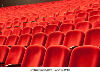 empty red cinema or theatre seats