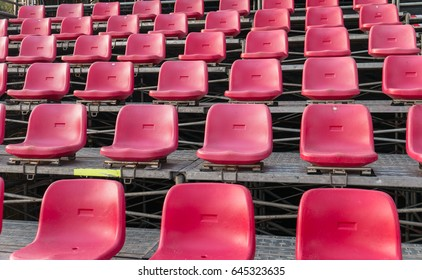 Empty red seats