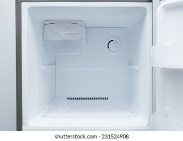 empty refrigerator freezer of kitchen appliance