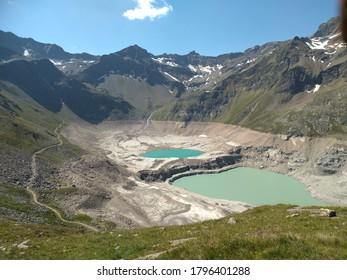 Empty Reservoir Finstertal in Kühtai