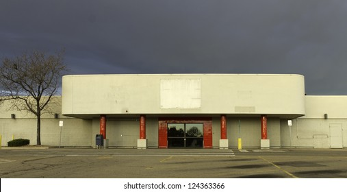 Empty retail store as a result of the economic recession.