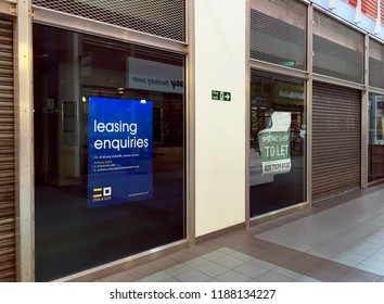 Empty Retail Units For Rent, Chatham, Nr London, England, 24 September 2018