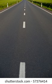 empty road (color toned image)