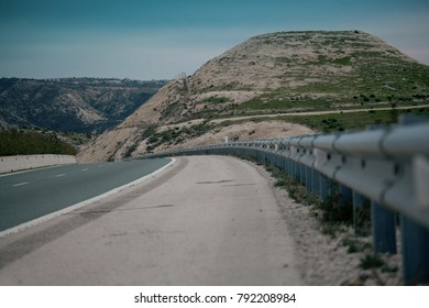 Empty road in Cyprus mountains