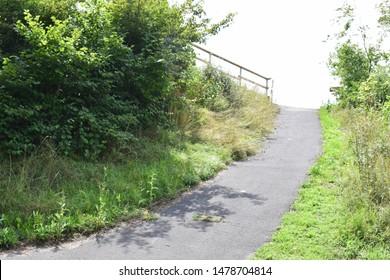 empty road in green rural Eifel