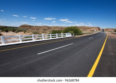 Empty road in Namibia