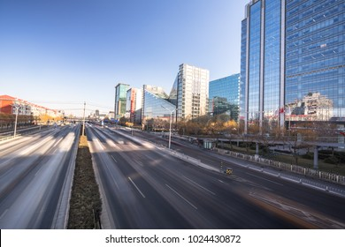 empty road with panoramic cityscape