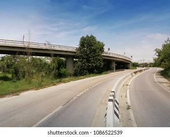 empty road in rural