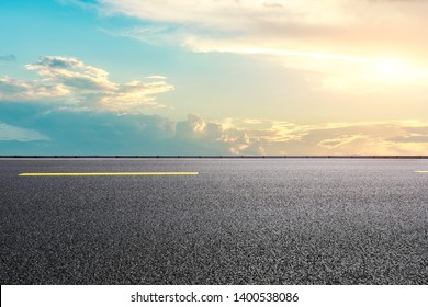 Empty road and sky nature landscape