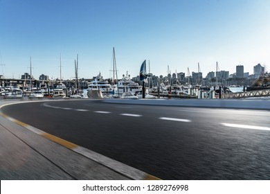 empty road at Yaletown Harbor Vancouver canada.