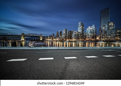 empty road with yealetown background, vancouver,