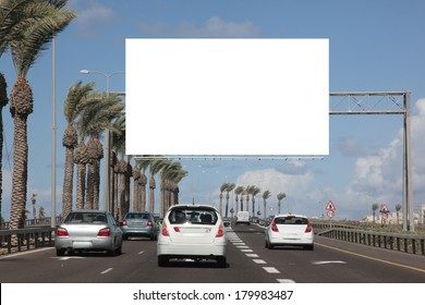 Empty roadside billboards